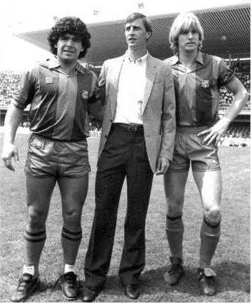 Maradona + Cruyff + Schuster = Barcelone 80's