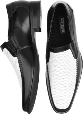 Stacy Adams Sterling Black and White Loafers | Men's Wearhouse