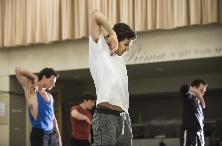 Guillaume Côté busy creating his new work Le Petit Prince with Artists of the Ballet. Photo by Aaron Vincent Elkaim.