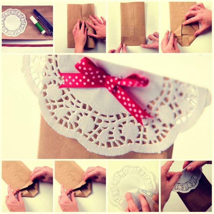 Detalle con blonda para bolsas de souvenir, preciosas! #blondas #souvenir