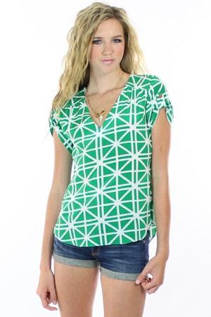 geometric patterned top - #womensfashion, #clothing, #women