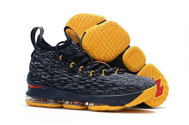 f561b1b8c4f 2018 How To Buy Basketball Shoe LBJ XV Nike LeBron 15 KITH x dark-blue  yellow