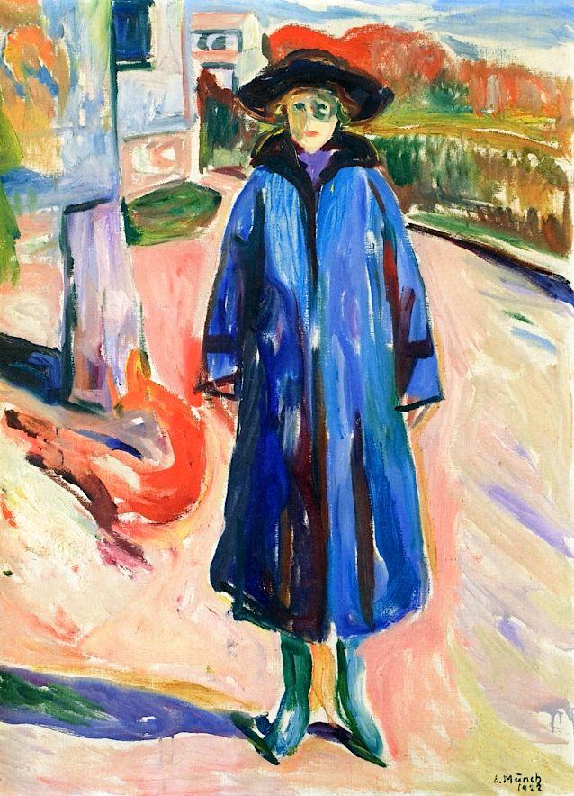 bofransson:  Blue Coat in Sunshine Edvard Munch - 1922