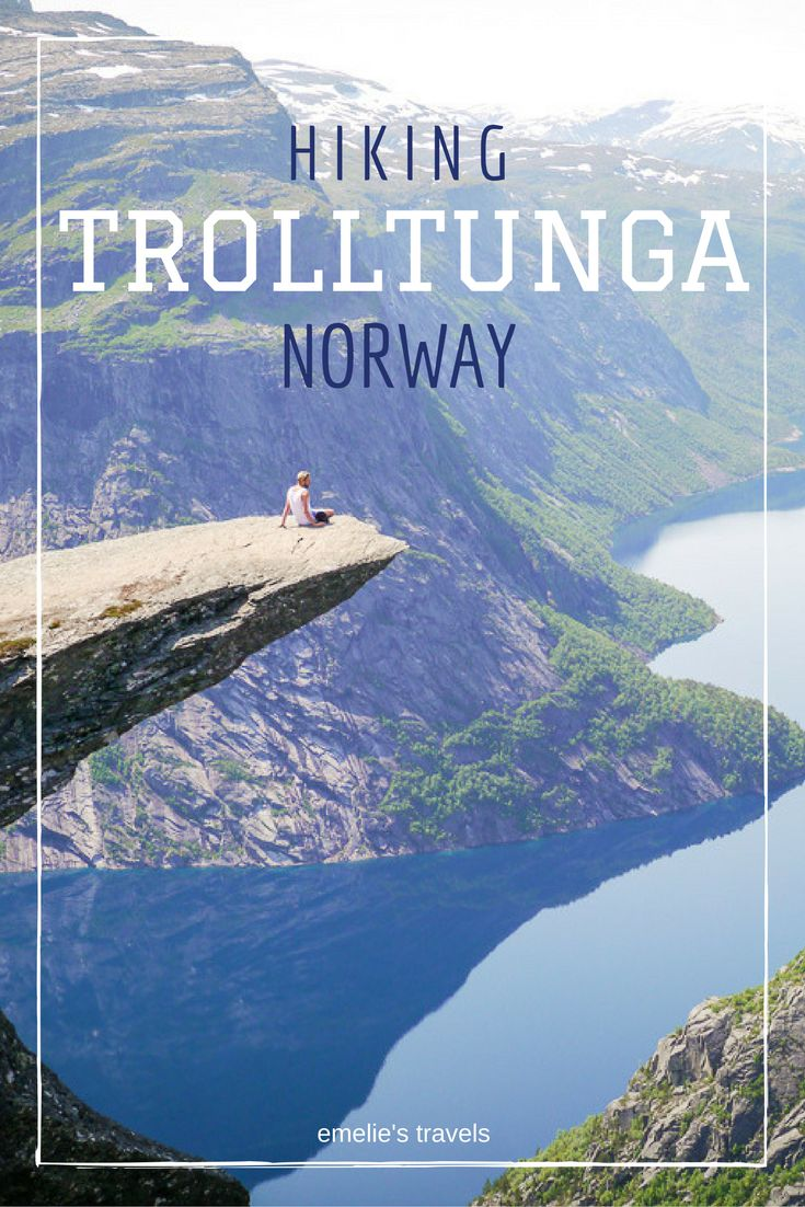 Trolltunga (Trolls Tongue) – one of the most spectacular mountain formations in Norway. Hiking Trolltunga Norway | How to hike Troll's tongue | Stavanger | Bergen | Hikes in Norway | Fjords in Norway | Travel Norway | Travel Stavanger