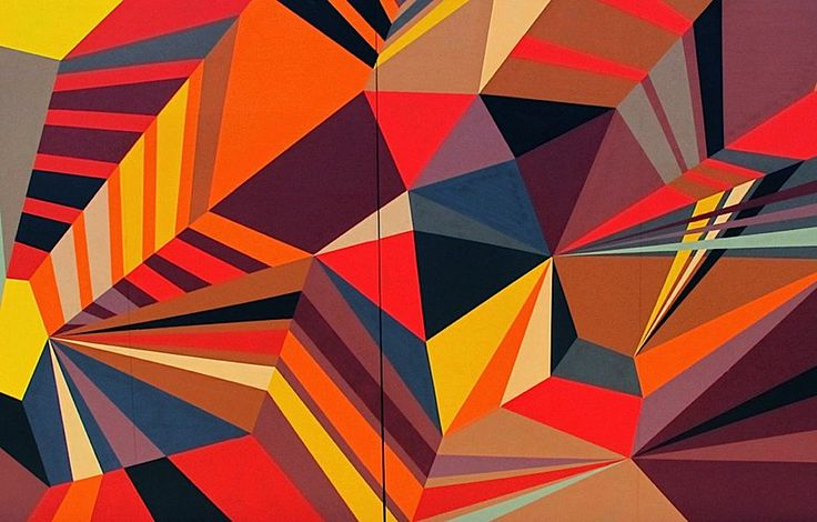 Famous Geometric Paintings | These colorful geometric murals were done by Matt W. Moore, an amazing ...