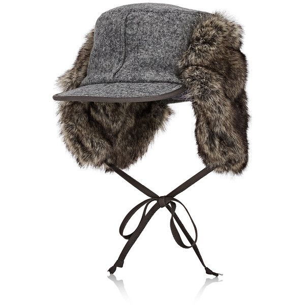 Lola Hats Women's Woodsman Wool Trapper Hat (2740 MAD) ❤ liked on Polyvore featuring accessories, hats, grey, grey brim hats, lola hats, wool trapper hat, gray brim hats and 5 panel hat