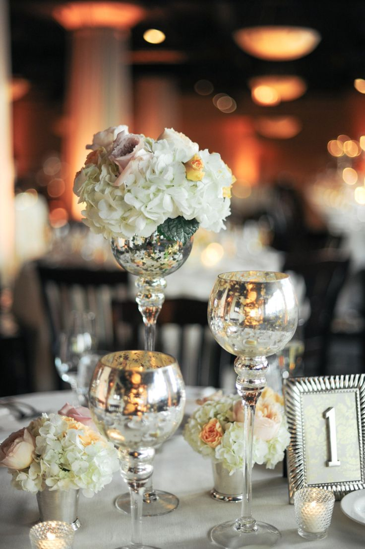 We have a love affair with Mercury Glass! See more here: http://www.stylemepretty.com/illinois-weddings/2013/11/11/modern-chicago-wedding-from-erica-rose-photography