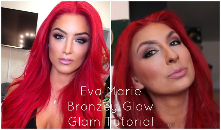 WWE and Total Divas Eva Marie Bronzey Glow Glam
