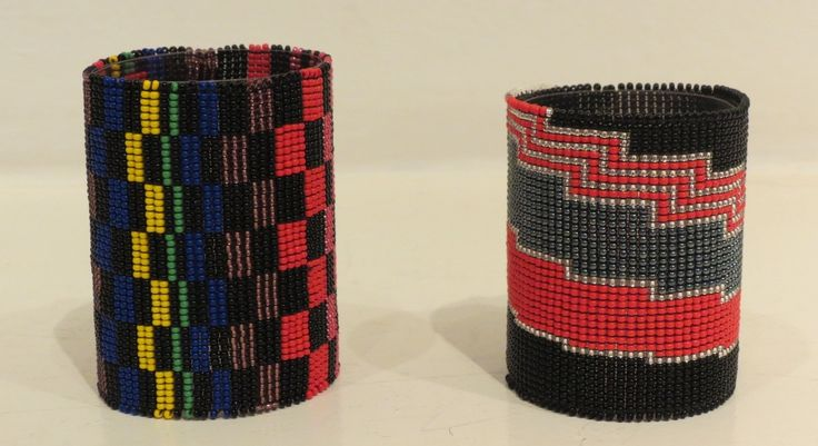 Handmade beaded cuffs by South African Artist at Kim Sacks Gallery Johannesburg