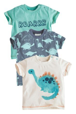 Buy Three Pack Dino T-Shirts (0-18mths) online today at Next: United States of America