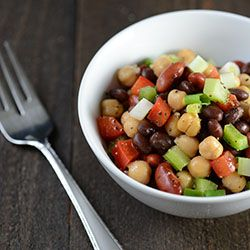 A light, healthy, flavorful 3 Bean Salad packed with protein and lots of crunch!