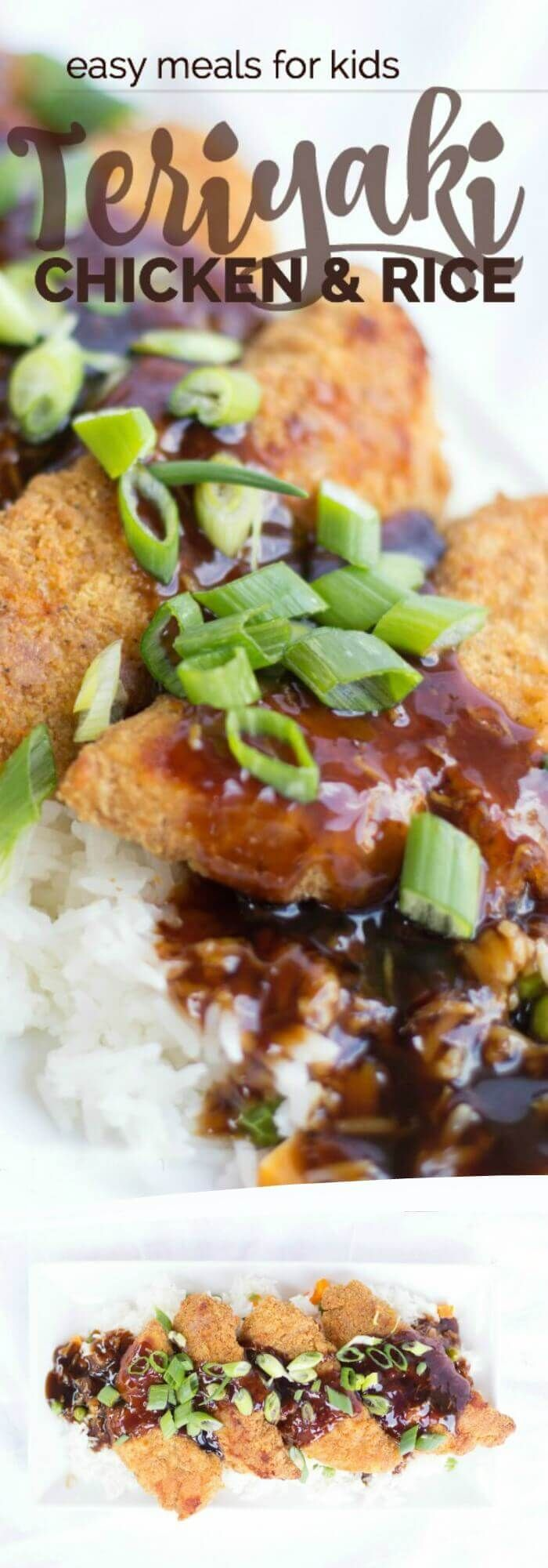 Your whole family will love this Easy Teriyaki Chicken & Rice Recipe!
