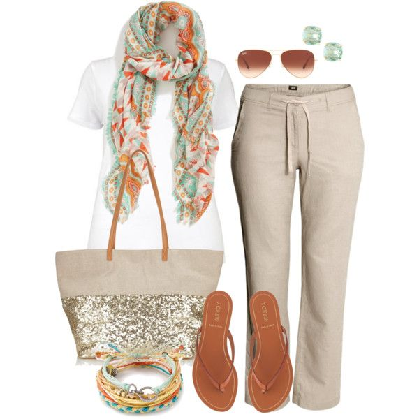"""Linen Pants - Plus Size"" by alexawebb on Polyvore"