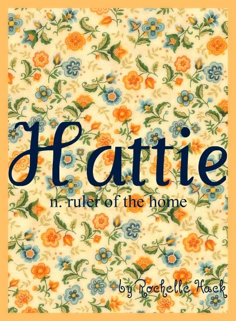Baby Girl Name: Hattie. Meaning: Ruler of the Home. Origin: English; German. http://www.pinterest.com/vintagedaydream/baby-names/