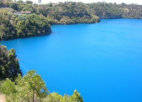 Blue Lake, North Stradbroke Island,  Queensland, Australia The water is always cold and refreshing to swim in, worth the long walk, but don't forget some water and a hat and sunscreen....as you have to make the hot walk back.