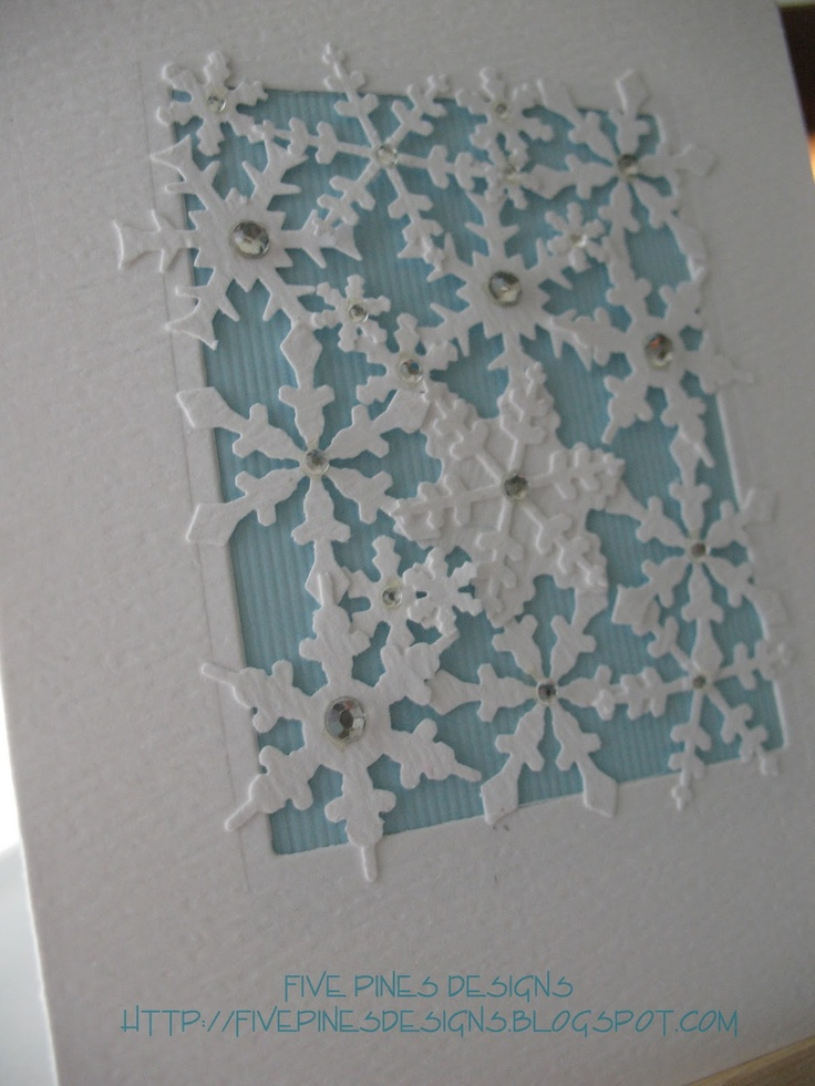 Five Pines Designs: layered snowflakes. (Technique ...