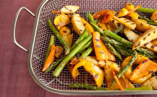 Epicure's Grilled Mexican Asparagus, Pepper and Potato Salad