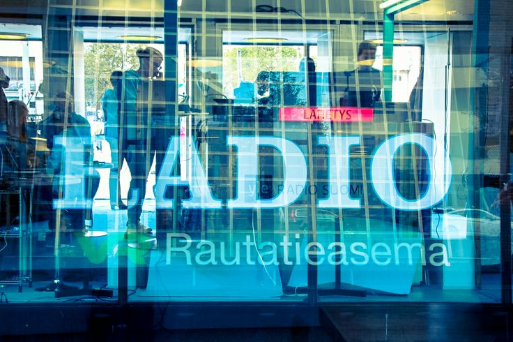 Tampere trainstation. Radio online middle of the station. Capturing the feeling through a eye.