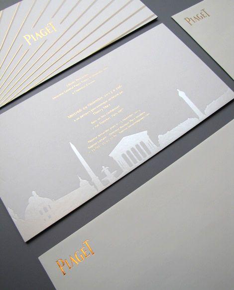 Evenement PIAGET, invitation réalisée par le #StudioEmmaRoux