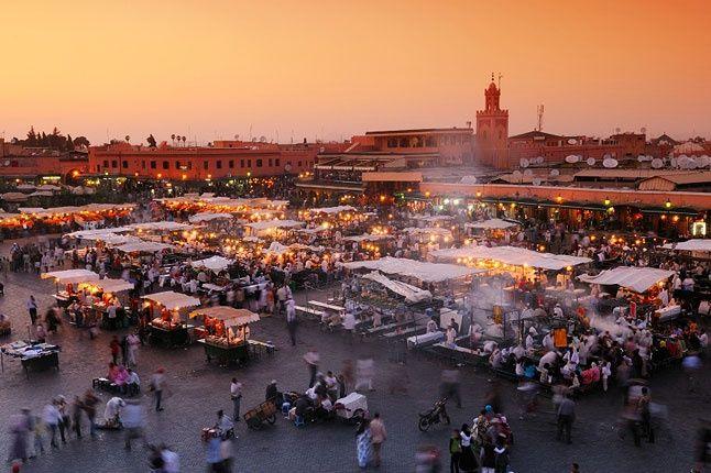 Sunset over Marrakech.