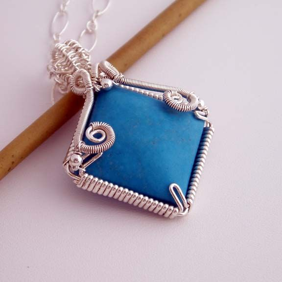 Wire Wrapped Pendants | Claire wire wrapped pendant