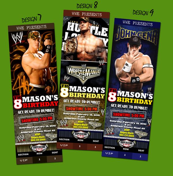 WWE TICKET BIRTHDAY PARTY INVITATION HARDY BATISTA in Specialty Services, Printing & Personalization, Invitations & Announcements