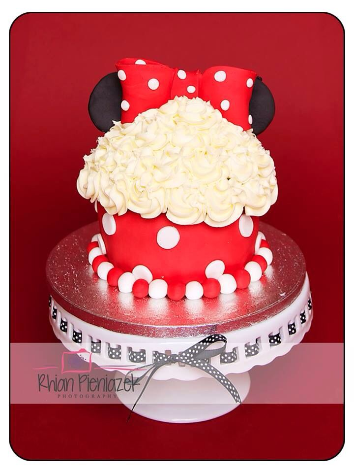 Minnie Mouse cake. Cakes By Helzbach. Rhian Pieniazek Photography.