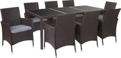 heute-wohnen Poly-Rattan-Garnitur Terni, Garten Sitzgruppe Tisch + 8 Sessel, Alu Jetzt bestellen unter: https://moebel.ladendirekt.de/garten/gartenmoebel/gartenmoebel-set/?uid=fef2cd6a-d334-5f6b-a68f-ffcbaf81fcc4&utm_source=pinterest&utm_medium=pin&utm_campaign=boards #garten #gartenmoebel #gartenmoebelset