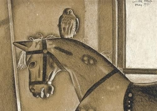 """""""The Sparrowhawk"""" by Lucian Freud, 1947"""