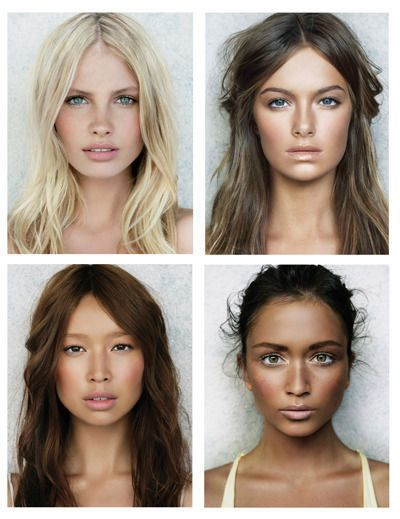 "Love the ""no makeup"" makeup look with the perfect skin, pretty lips, and contouring."