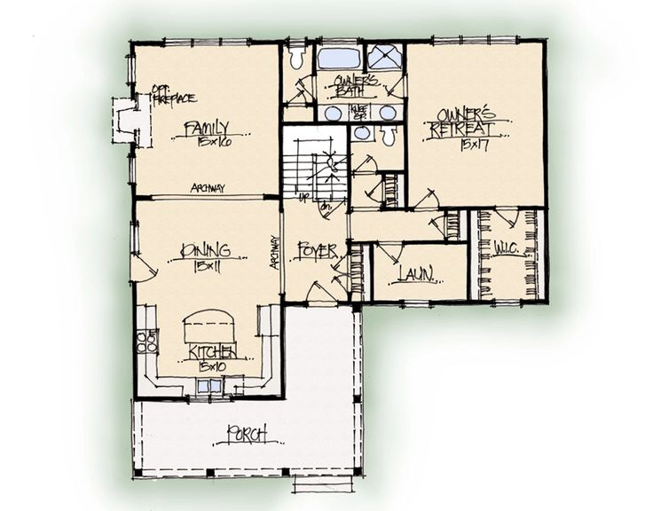 Magnolia home plan earnhardt collection by schumacher for Custom house plans online