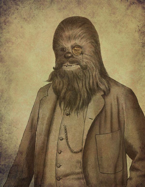 Les personnages de Star Wars revisités par Terry Fan