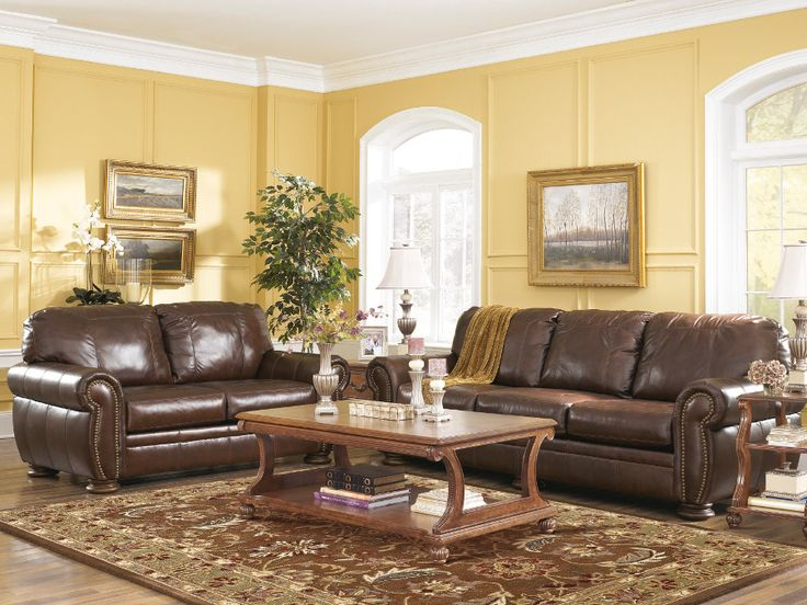 Rana Furniture Living Room : Palmer Walnut Sofa & Loveseat #loveseat #livingroom #rana ...