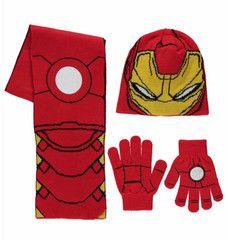 AVENGERS ~ 3pc Iron Man Knitted Set