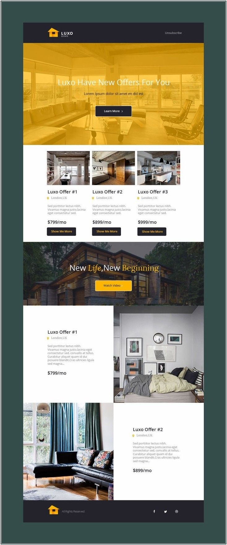 It Newsletter Examples Email Template Design Email Newsletter Template Real Estate Web Design