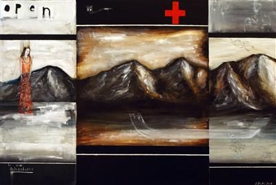 Jason Hicks. Great use of composition, putting disparate images together - paintings within paintings