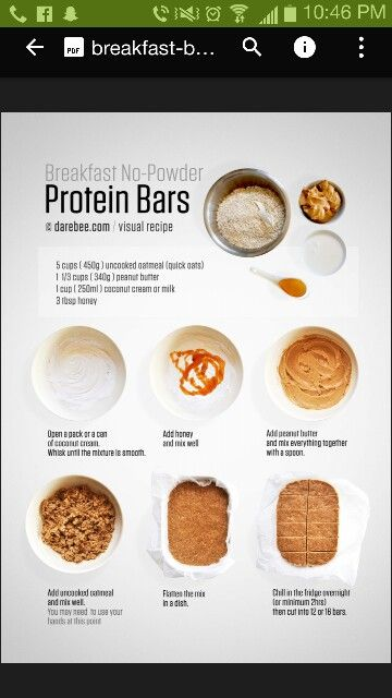 Protein bars with nut butter, oats and honey.