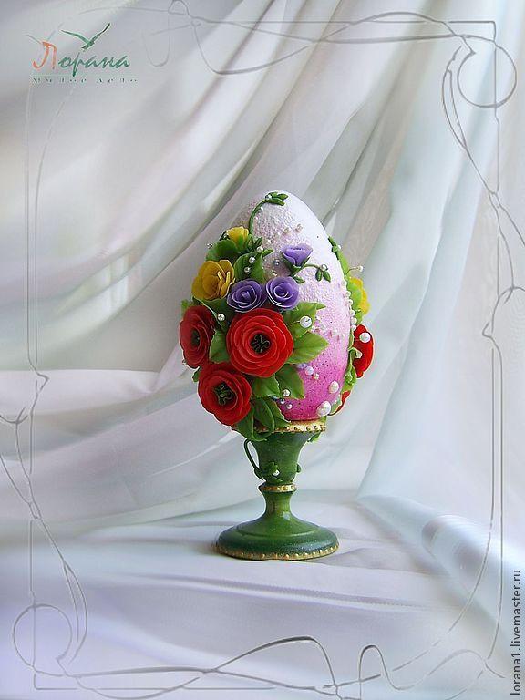 """Купить Пасхальный сувенир. Яйцо """"Яркие краски весны"""". - Пасха, подарки к праздникам, подарки к пасхе"""