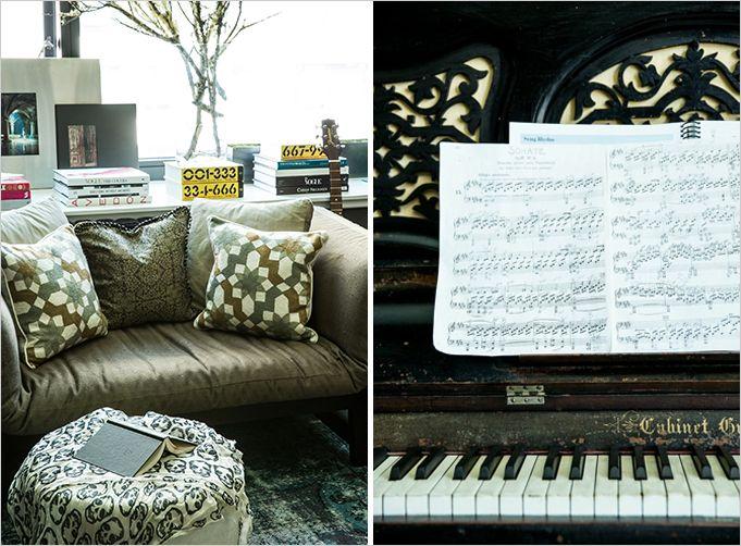 Artsy Gothic Living Room Details (Lizette Bruckstein)