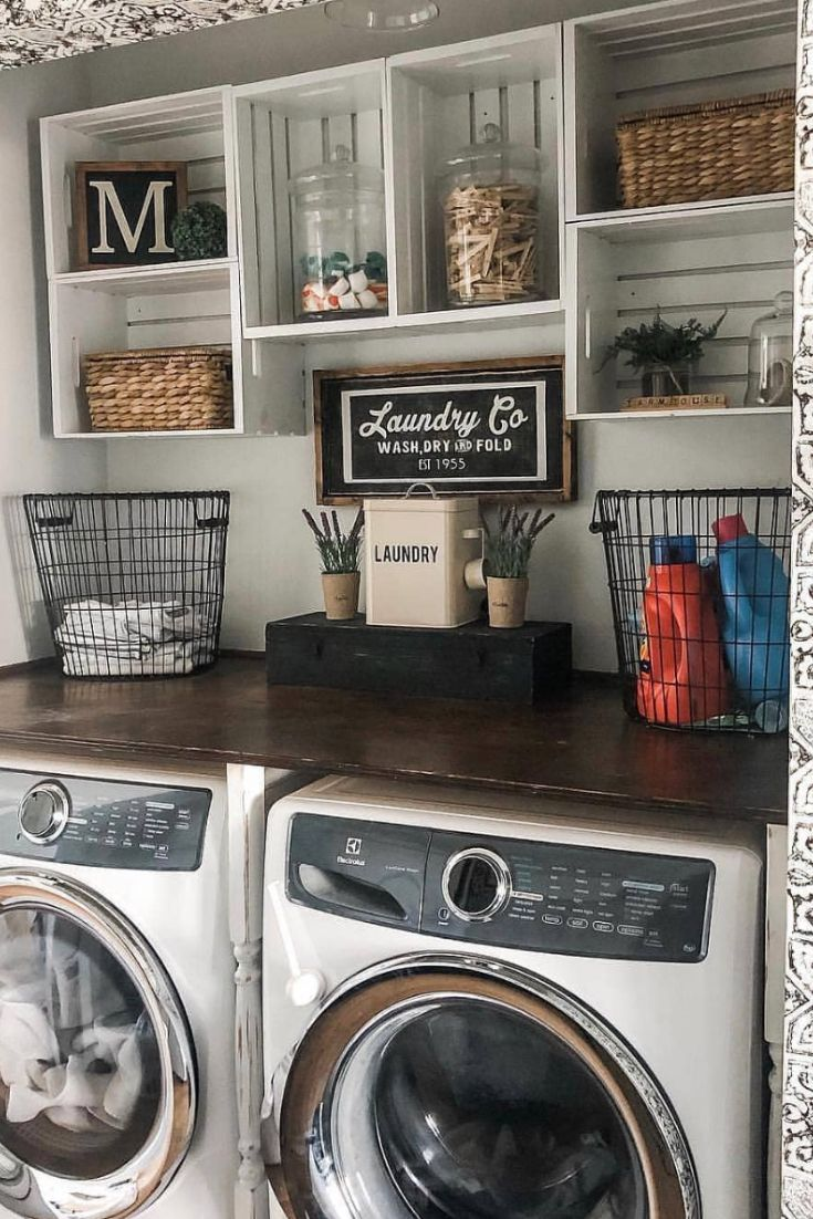 Smart Farmhouse Laundry Room Storage Organization Ideas Farmhouse Ideas Laundry Laundry Room Organization Storage Dream Laundry Room Laundry Room Remodel