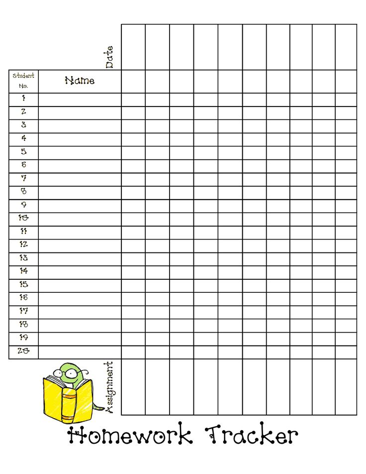 homework template for teachers