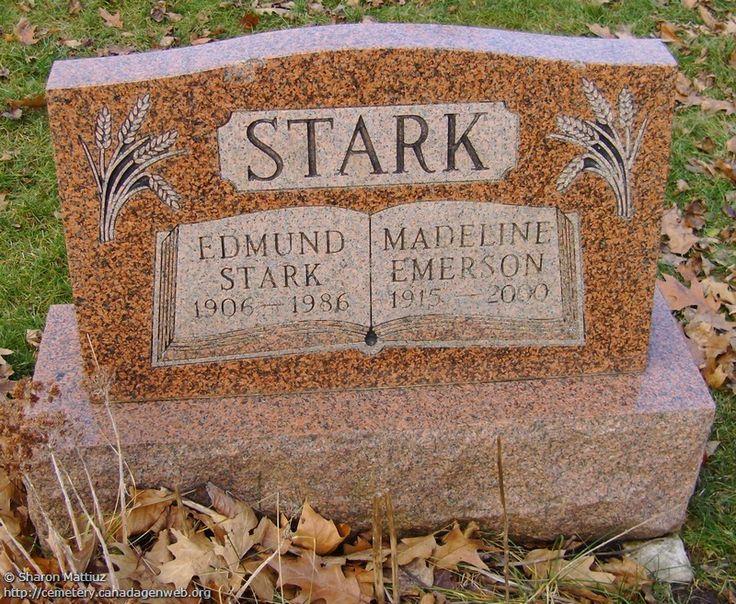 ON: Gore / Clanbrassil / Dufferin Cemetery (Madeline (Emerson) STARK)…