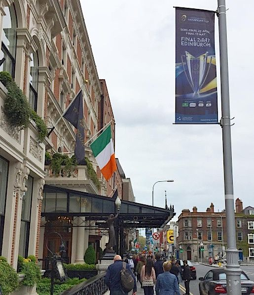 Dublin Banners - European Rugby Champions Cup semi final at the Aviva #civicmedia2017