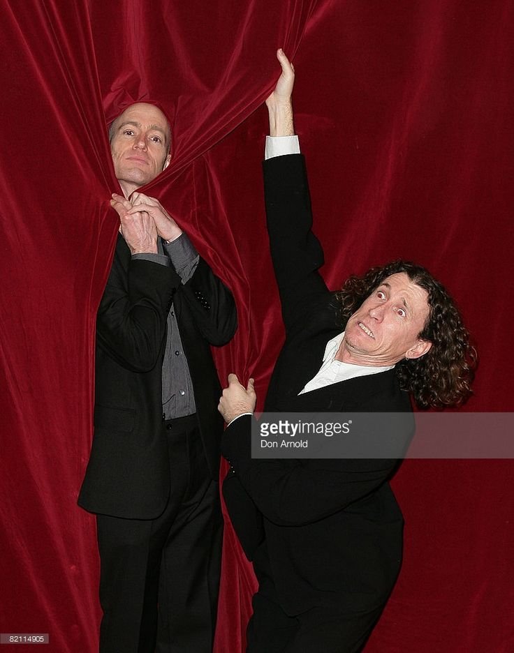 The Umbilical Brothers (Shane Dundas and David Collins) attend the after party for the 2008 Helpmann Awards at Star City's Lyric Theatre on July 28, 2008 in Sydney, Australia.