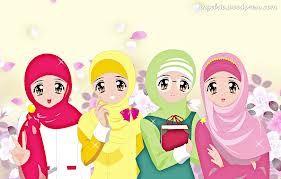 Cute Muslimah Cartoon Pictures Pelautscom