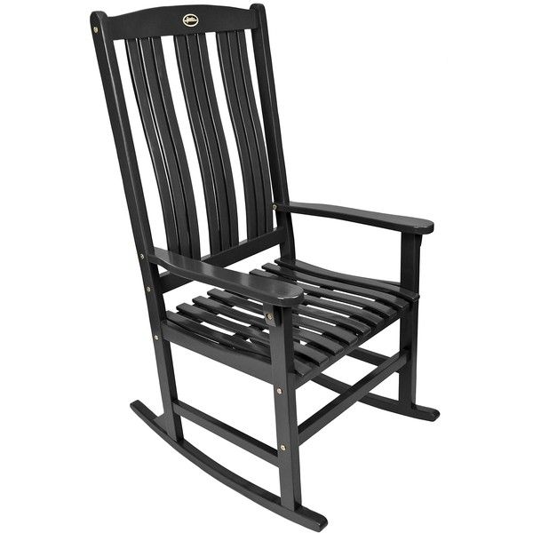 Black Wooden Rocker ($150) ❤ Liked On Polyvore Featuring Home, Outdoors,  Patio