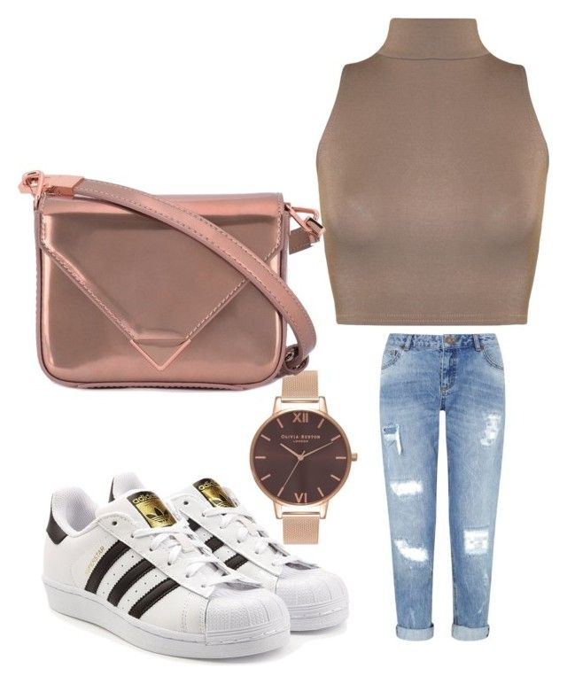 """""""Untitled #151"""" by adrianna-nicole-smith on Polyvore featuring Miss Selfridge, WearAll, adidas Originals, Olivia Burton and Alexander Wang"""
