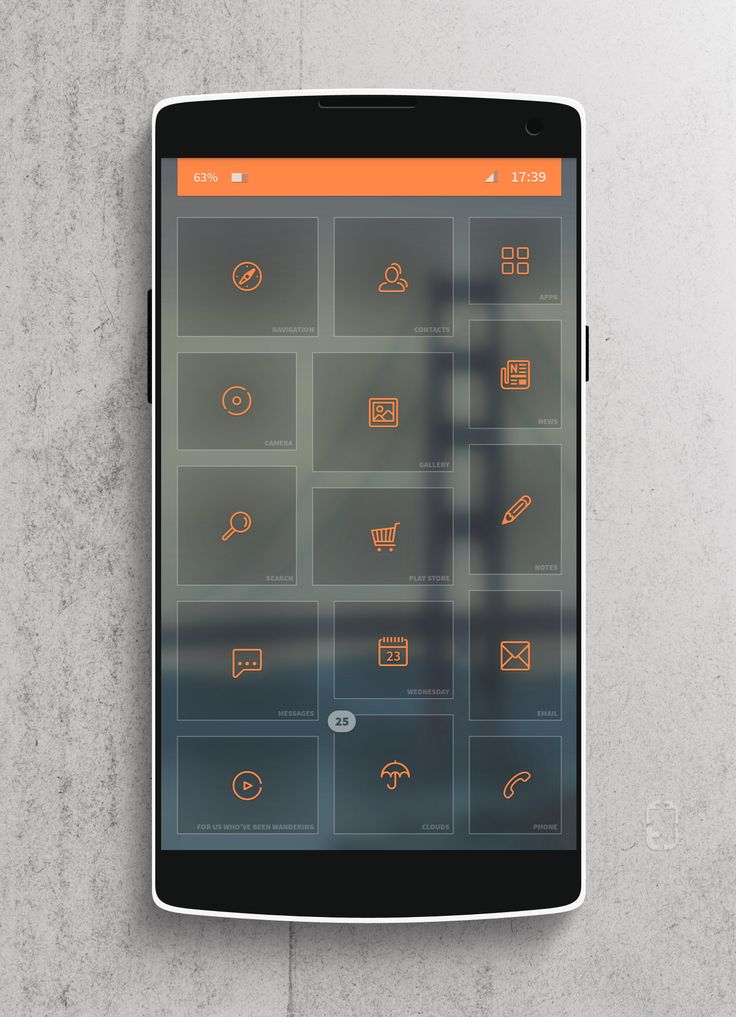 Glass Tiles Android Homescreen by rabrot - MyColorscreen