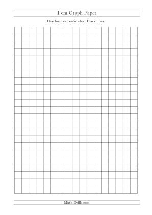 1 Cm Graph Paper With Black Lines (A4 Size) (A) | Kids Geometry