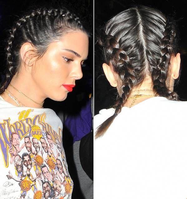 Las boxer braids de Kendall Jenner #boxerbraids – …